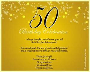 50th Birthday Invitation Wording Samples - Wordings and ...