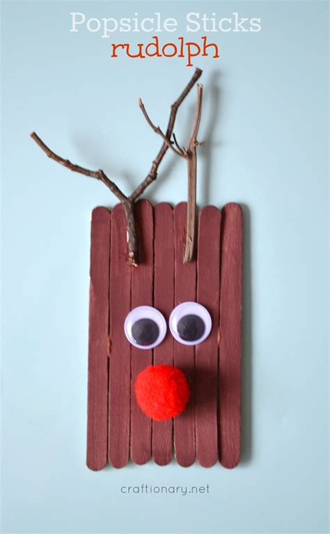 cheerful diy popsicle stick christmas crafts shelterness