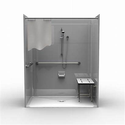 Ada Shower Roll Piece Wall Smooth Showers