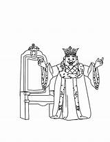 King Coloring Pages Happy sketch template