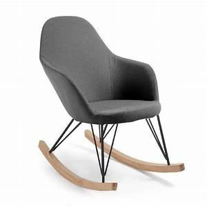 Chaise à bascule Teresa, gris foncé Achat / Vente chaise Cdiscount