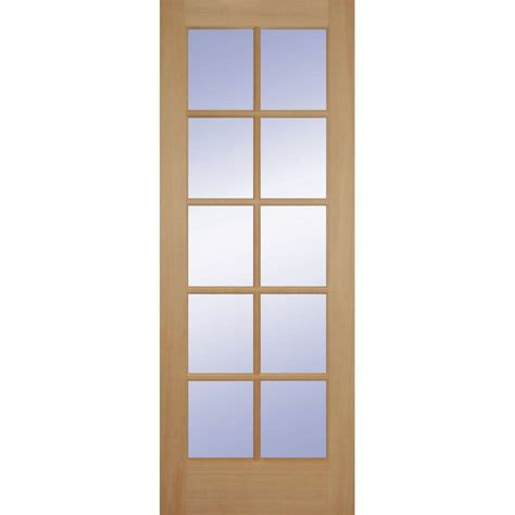 doors interior home depot builder 39 s choice 24 in x 80 in hemlock 10 lite interior