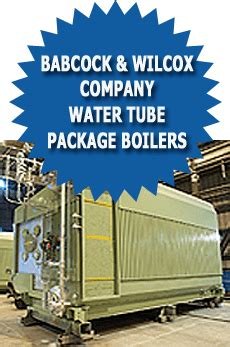babcock  wilcox company water tube package industrial