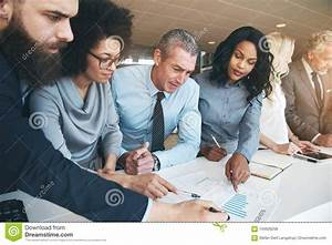 Contemporary Multiracial Team Working On Project In Office