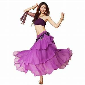 3 Layers Flamenco Skirt + Tube Top + Coins Belt ...