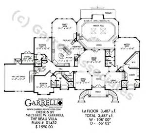 luxury home plans with pools beau villa house plan active house plans