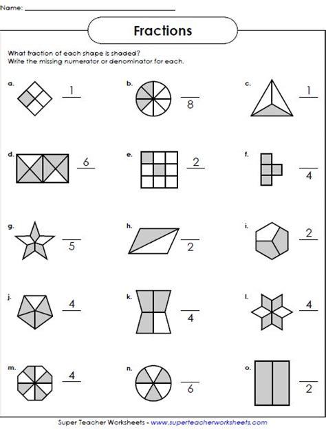 fractions worksheets math worksheets fractions
