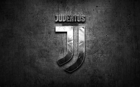 Scarica sfondi Juventus FC, logo argento, Serie A, nero ...