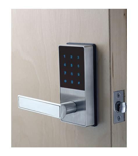 keyless entry door locks linnea keyless entry lever with key fob in stainless steel