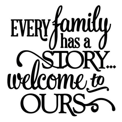 family   story wall art decal quote words
