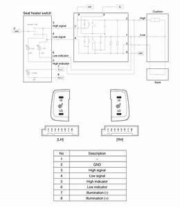 Hyundai Sonata  Seat Heater Switch  Schematic Diagrams - Seat Electrical