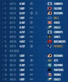 nfl schedule release   york giants