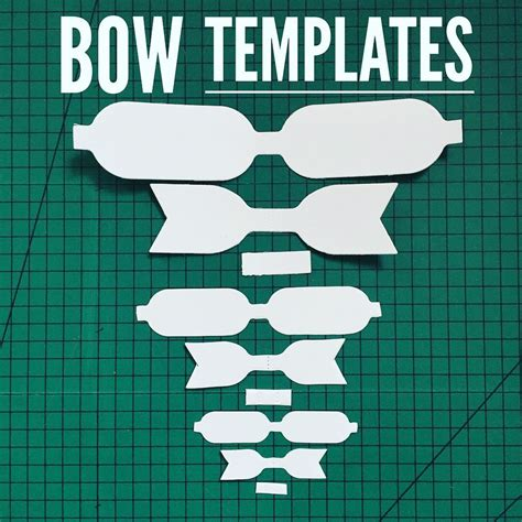 hair bow template hair bow template plastic bow template 3 sizes per pack fabridasher