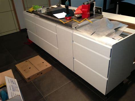 meuble bas cuisine avec plan de travail re la cuisine en dé et par é première construction st jean de beugne vendee 07