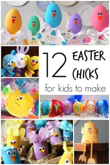 easy adorable easter chick crafts happy hooligans