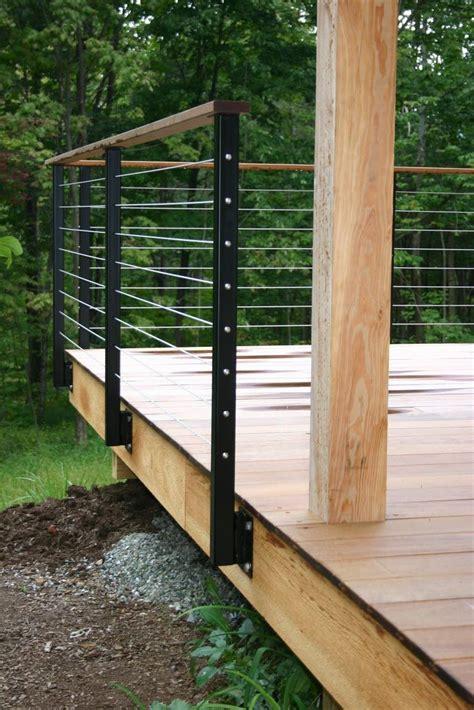 steel deck handrails best 25 metal deck railing ideas on metal