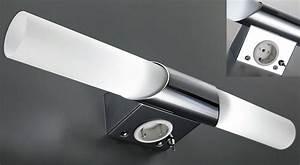 applique salle de bain avec prise et interrupteur maison With miroir salle de bain avec interrupteur et prise