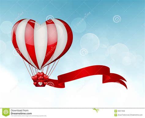 heart hot air balloon stock illustration image