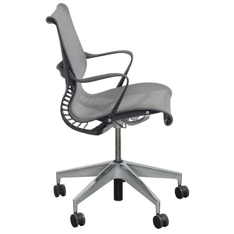 Herman Miller Setu Chair Used by Herman Miller Setu Used Task Chair Gray Mesh National