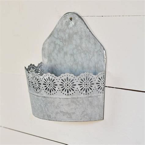 Get it as soon as mon, apr 12. Galvanized Wall Bucket with Lace Trim | Country farmhouse decor, Farmhouse decor, Vintage ...
