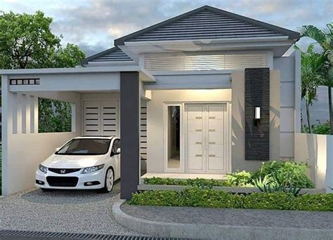 desain rumah minimalis modern  lantai   rumah