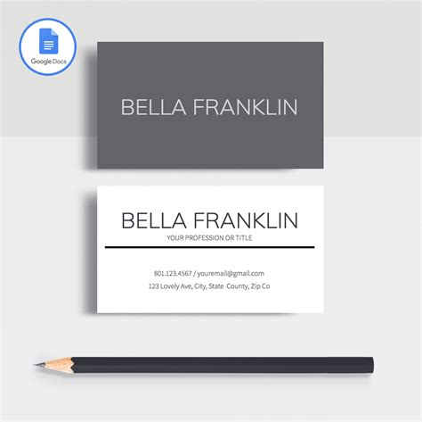 business card template on docs professional business cards template for docs