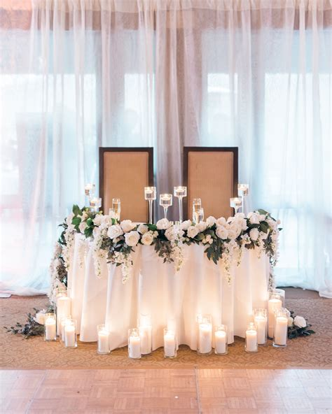 Sweetheart table Reused the garland from the floral