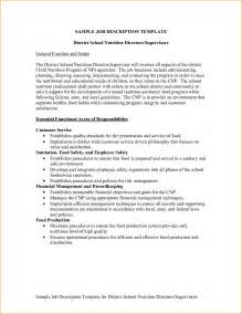resume format template for job description sle job description templates twhois resume