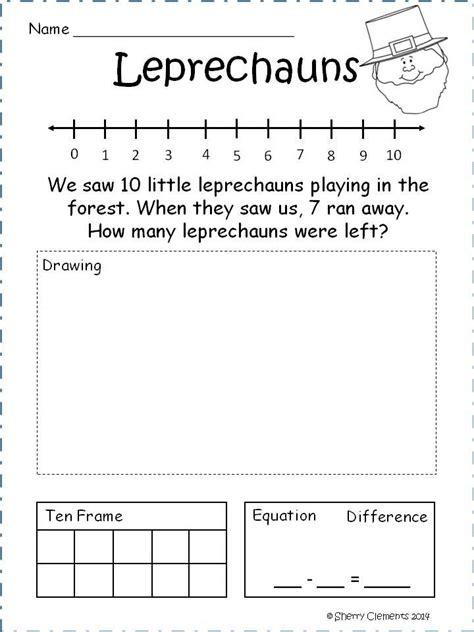 subtraction problem solving for kindergarten addition