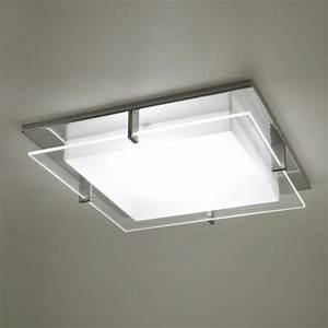 Modern square ceiling light adapter for recessed