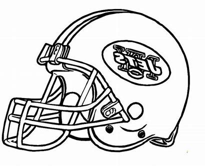 Coloring Helmet Football Pages College York Nfl