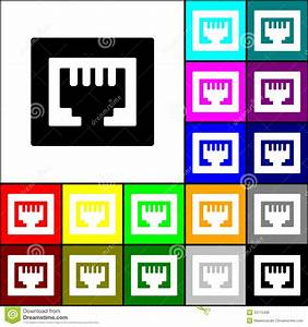 Rj45 Icon Stock Vector  Illustration Of Device  Computer