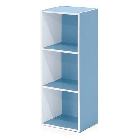 Light Blue Bookcase by 11003wh Lbl 3 Tier Open Shelf Bookcase White Light Blue