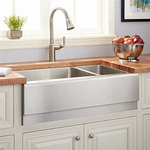 33quot piers 70 30 offset double bowl stainless steel With 2 bowl farmhouse sink