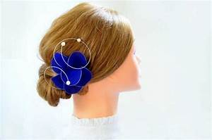 Royal Blue Fascinator Flower Hair Pin Royal Blue