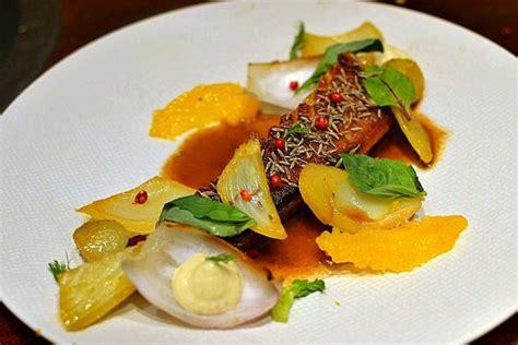 canard à l 39 orange gastronomique et pétales de fenouil confits