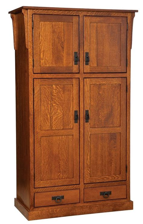 Cupboard Pantry by Amish Mission Rustic Kitchen Pantry Storage Cupboard Roll