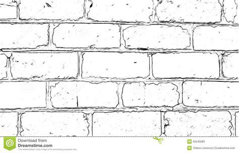 wall drawing pencil brick wall painted with a pencil stock illustration Brick