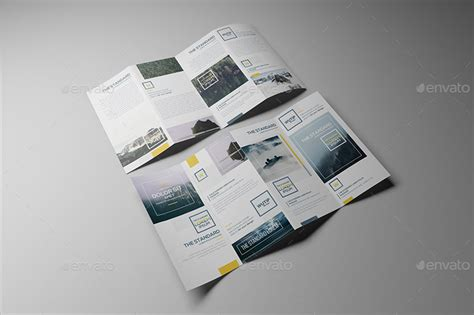 4 Panel A4 Roll Fold Brochure Mockup Cover Actions 4 Panel A4 Roll Fold Brochure Mockup Business T