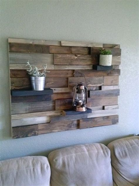 I still wanted some of the wood to show through so i only did one coat of paint. Reclaimed rustic wood wall decor by CraftsmanJeff on Etsy, $250.00 | Rustic wood wall decor ...