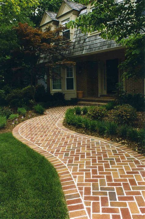 curved walkway designs curved brick walkway traditional landscape dc metro by land art design inc