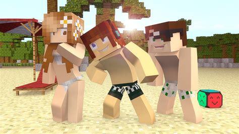 minecraft fomos   praia build battle youtube