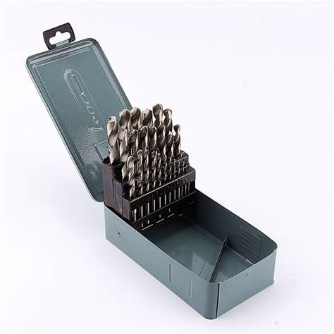 25pcs/set 1 13mm HSS Twist Drill Bits Metric Drilling Bit Woodworking Drill Bit With Case-in ...