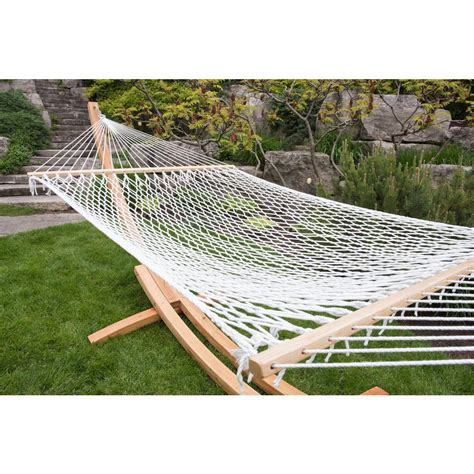 Rope Hammock by Vivere 12 5 Ft Polyester Rope Hammock In White
