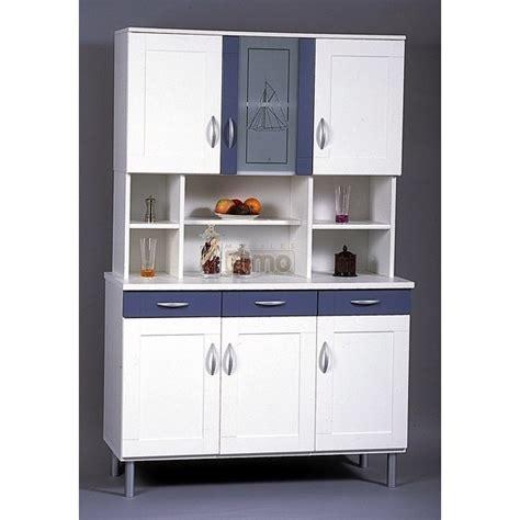 buffet cuisine but buffet de cuisine bleu et blanc bc3 meubles elmo