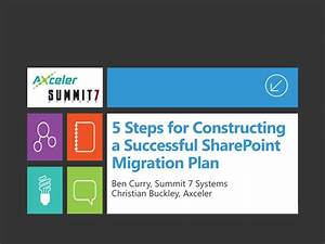 5 steps for constructing a successful sharepoint migration With sharepoint migration plan document
