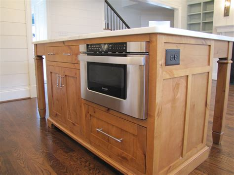 microwave in island cabinet custom made kitchen island charlotte henderson