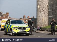 Windsor, UK 27th March, 2017 A police armed response
