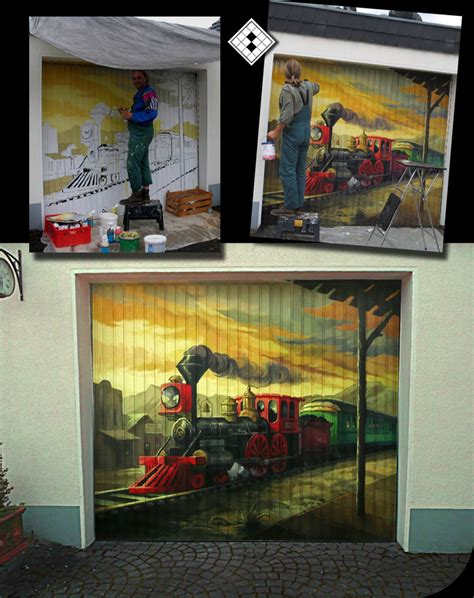 Garage Bekleben by Graffiti Garagentor Nrw Ideen F 252 R Individuelle