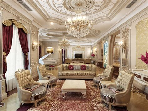 Professional Living Room Design In Qatar By Antonovich Design